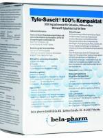 TYLO-SUSCIT 100 % Kompaktat, granulės naudoti su geriamuoju vandeniu kiaulėms ir vištoms
