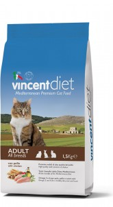 Pilnavertis subalansuotas pašaras visų veislių suaugusioms katėms su vištiena