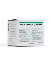 FLUBENDAZOL 5 %, 50 mg/g, geriamieji milteliai kiaulėms ir vištoms