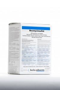 Neomin, 1000 mg/g geriamieji milteliai, skirti naudoti su geriamuoju vandeniu, pašaru, pienu ar pieno  pakaitalu galvijams (veršeliams), kiaulėms ir vištoms (jaunoms vištaitėms, dedeklėms ir veislinėms vištoms)